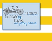 Bicycle for Two Save the Date