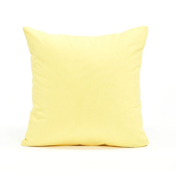 Throw Pillow Case 20 X 20 : 20 X 20 Solid Yellow Throw Pillow Cover by BHDecor on Etsy