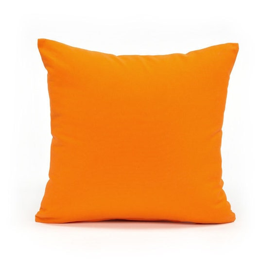 24 X 24 Solid Orange Oversized Euro Sham Pillow Cover by BHDecor