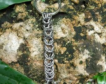 Belled Box Chain Keychain