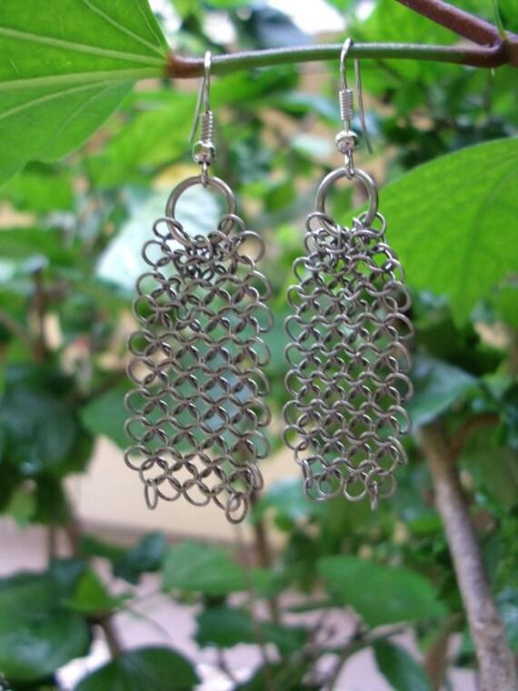 Chandelier Chainmail Earrings