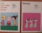 Vintage SNOOPY and You Can't Win CHARLIE BROWN...Hardback Comics...1970's