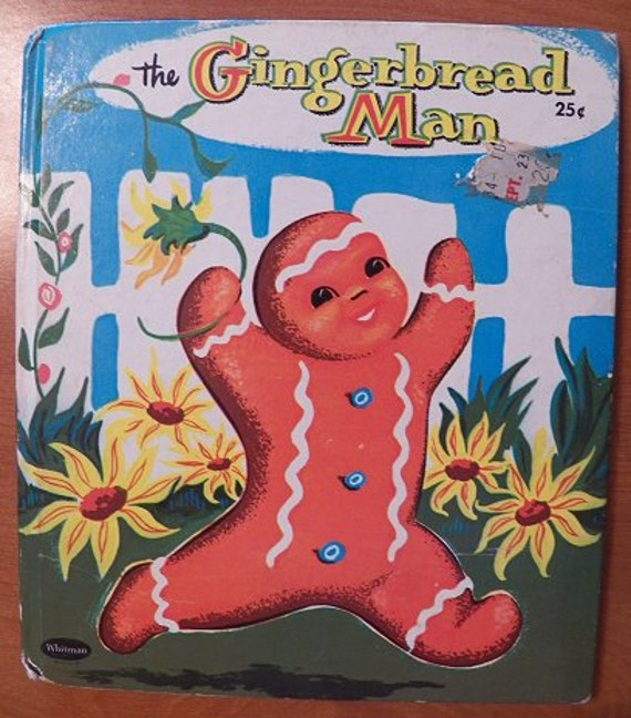 1958 The Gingerbread Man..Whitman Tell-A-Tale book.  Pictures by SARI