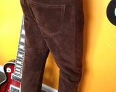Vintage 70's Brown Suede Pants in Excellent Condition