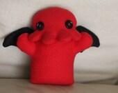 Small Red Cthulhu Fleece Plush