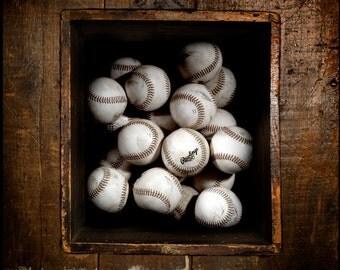 Box of Baseballs Photograph