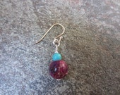 Purple Turquoise Earrings