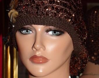 Flapper Hat Beret  Church  1920 style Personalized   Shood Headdress
