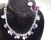 Purple Swarovski Charm Bracelet