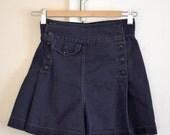 60's Blue High Waisted Balloon Shorts