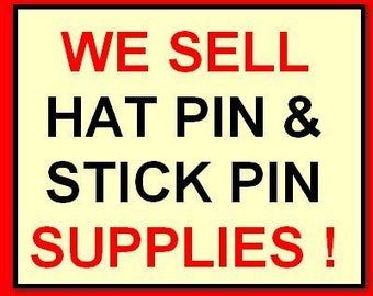 20 GOLD TONE 6inch  Hatpin blanks,Findings stick hat pin..We sell Stickpin blanks,supplies,Make your own..