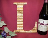 Wine Cork Monogram Letter Initial Wedding gift Personalized decoration L