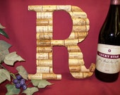 Wine Cork Monogram Letter Initial Wedding gift Personalized decoration R