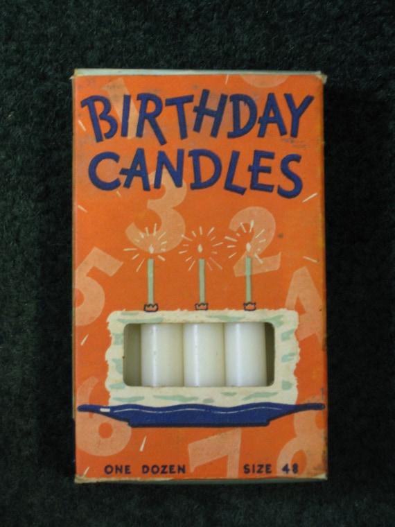 Vintage Birthday Candles 84