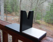 Wooden Glue Gun Holder with Tile Painted Black