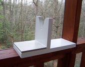 Wooden Glue Gun Holder With Tile  Painted White