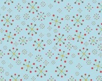 Fabric by the Yard Riley Blake Doohikey Design Hooty Hoots Returns Jacks C3443 Blue