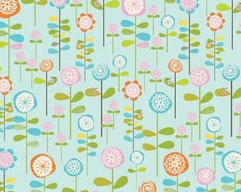 Fabric by the Yard Riley Blake Happier Garden Blue C5502