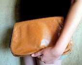 1970s Boho Leather Clutch