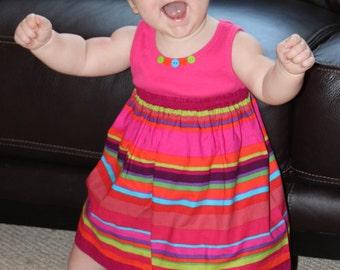 "Baby dress pdf pattern, easy sewing pattern, Baby toddler t shirt dress pattern CALIFORNIA DREAMIN"""