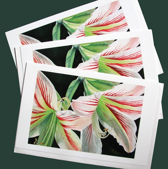 A Trio of All Occasion Flower Cards-Size 5'x7'