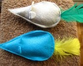 Mice with Feather Tail Catnip Toys- Set of 2