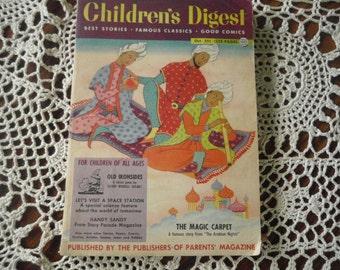 oct 1954 Alladin Magic Carpet Ride Childrens Digest Vintage Book Old Ironside  Nice Illustrations 1950s Children books