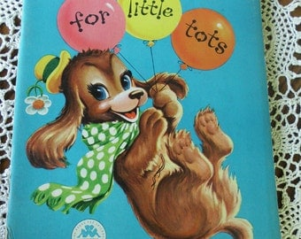 1955 Coloring Book BIG Dots For Your Little Tots Toddler Antique Color Book Vintage Dot to Dot books Puppy Birthday Party