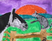 Best Friends Forever Horse and Kiddy are very best Friends Original Paintings by Laura