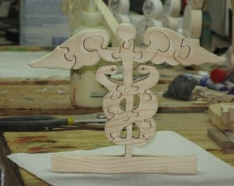 Caduceus Stand Up Wood Puzzle