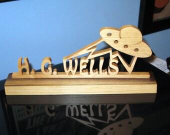 H. G. Wells Wood Desktop Hand Made Sign