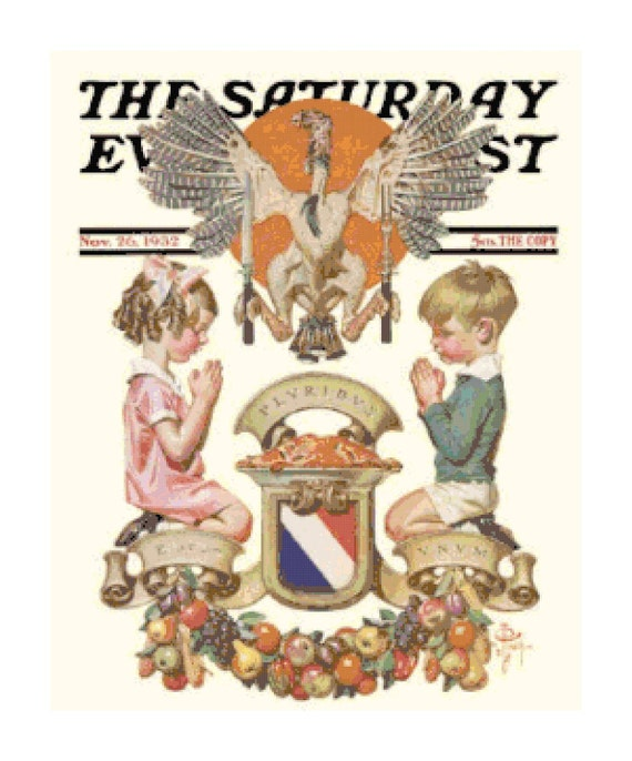 Rockwell Thanksgiving Sat. Evening Post -1 PDF Cross-Stitch Pattern
