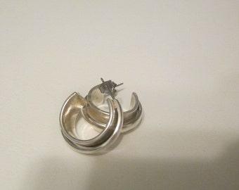 Vintage Sterling SIlver Pierced Earrings