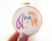 John Lennon- Imagine- Embroidery Hoop - Wall Decor- Home Decor- 3 inch- Ready to Hang