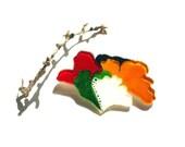 Nostalgic flower brooch-multicolor-handcut-one of a kind