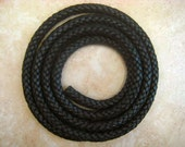 """Black 13mm Thick Woven Bolo Leather Cord  --  1 meter/39""""   --FREE SHIPPING"""
