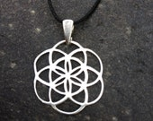 the seed of life pendant sterling silver