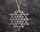 never ending hexagram pendant sterling silver