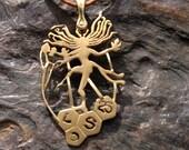 the cosmic dance pendant brass (copper)