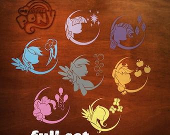 My Little Pony Full Character Set of Vinyl Decals