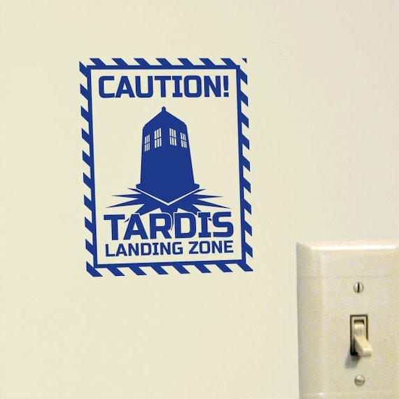 Tardis Landing Zone Vinyl Decal
