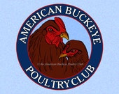 ABPC Fridge Magnet Chicken Rooster and Hen Logo Blue Background