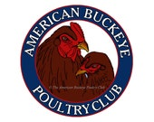 ABPC Fabric Block 8 x 10 Chicken Rooster and Hen Logo