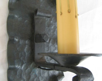 spanish style wrought iron rectangle back sconce LS2