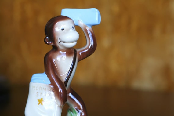 Curious George Figurine 1981 Mail Delivery