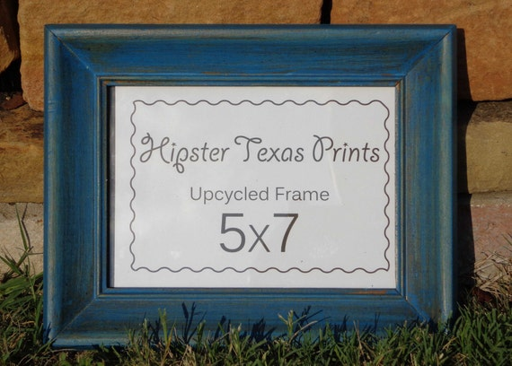 Upcycled Frame 5x7 - Wooden, Wall Art, Rustic, Western, Country, Home Decor, Turquoise