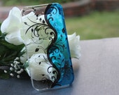 iPhone 4 case, iPhone 4s case, iPhone case, Hard case for iPhone 4 - Clear, Blue, Water Drop, Flower