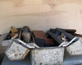 Large Tool Box / Fishing Tackle Box Industrial Style Storage