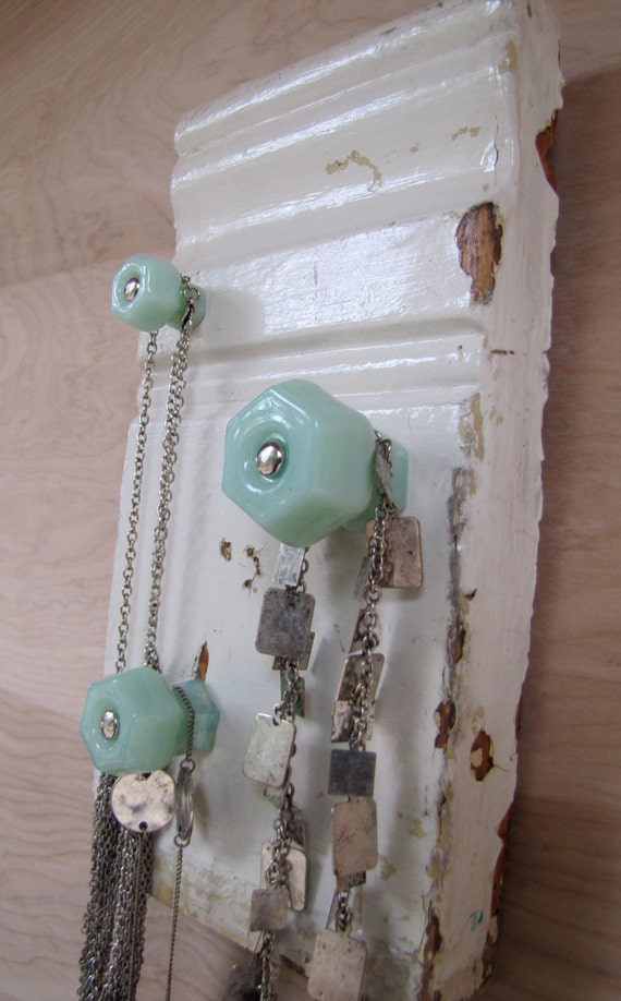 Soft and Green Upcycled Jewelry Holder Necklace Organizer