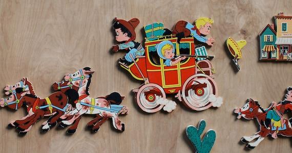 Vintage Cowboy Horses Nursery Wall Decor / Dolly Toy Co. / Babys Room